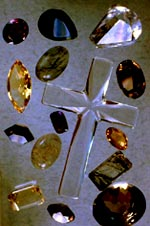 group of faceted quarz crystals