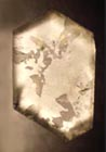 quartz etched surface section of crystal dauphine law